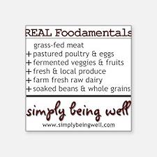 REAL Foodamentals Square Sticker