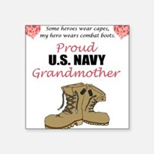 Proud US Navy Grandmother Square Sticker
