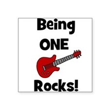 Being ONE Rocks! Guitar Creeper Square Sticker