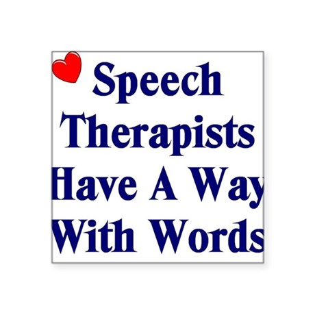 Speech Therapy Square Sticker