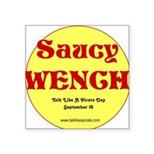 Saucy Wench Square Sticker
