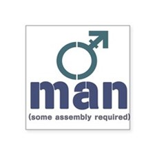 T-Man Assembly Square Sticker