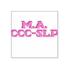 M.A. CCC-SLP Square Sticker