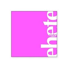 Sister in Amharic: Rose Square Sticker