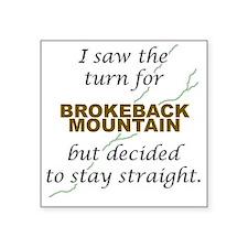 Brokeback Mountain... Square Sticker
