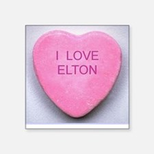 ELTON CONVERSATION HEART Square Sticker