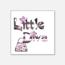Little Diva Square Sticker