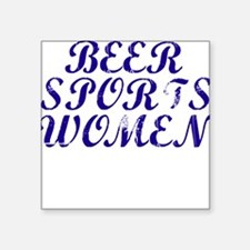 Beer Sports Women Square Stickers - Real World Squ