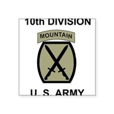 10th Mountain Division <BR>Square Sticker