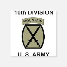 10th Mountain Division <BR>Square Sticker