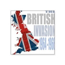 British Invasion Square Sticker