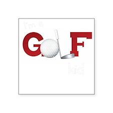 Golf kid/baby Square Sticker