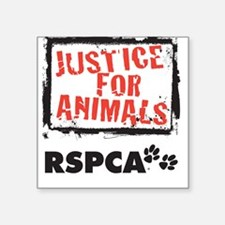 Justice for Animals Square Sticker