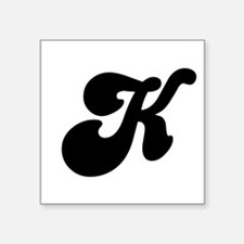 Fun Funky letter K Square Sticker