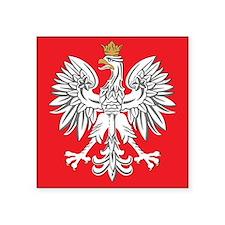 square polish eagle Square Sticker