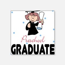 Preschool Graduate Square Sticker