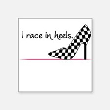 Race In Heels Square Sticker