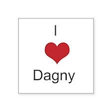 I heart Dagny Square Sticker