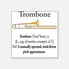 Trombone Pitch Approxomator Square Sticker