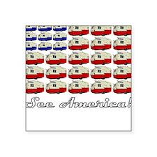 All American Shasta Square Sticker