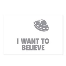 I Want To Believe Postcards (Package of 8)