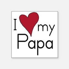 I Love my Papa Creeper Square Sticker