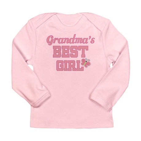 Grandma's Best Girl Long Sleeve Infant T-Shirt