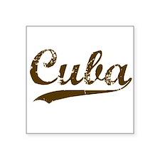 Vintage Cuba Retro Square Sticker