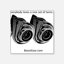 Everybody loves twins - Square Sticker