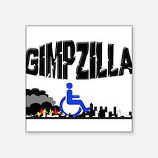Gimpzilla Square Sticker