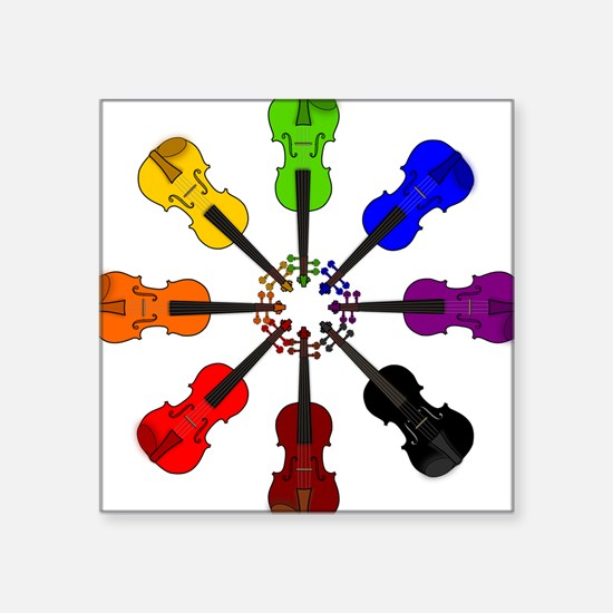 Circle of Violins Square Sticker