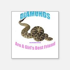 Girl's Best Friend Square Sticker