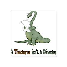 Thesaurus Dinosaur Square Sticker