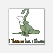 Thesaurus Dinosaur Square Sticker