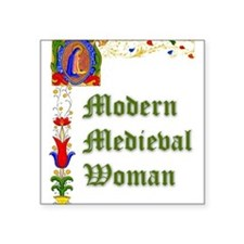 Modern Medieval Woman Square Sticker