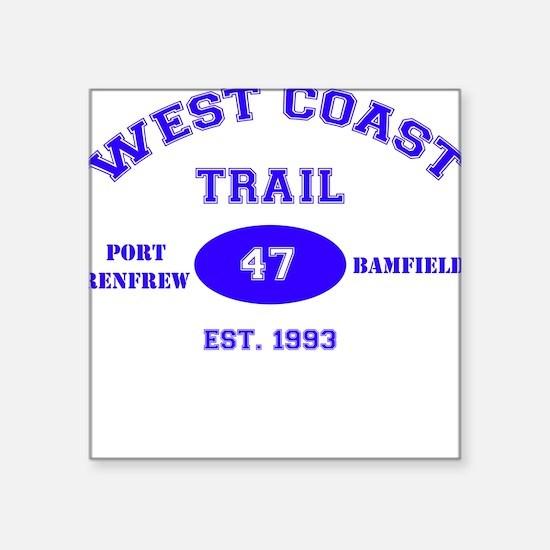 West Coast Trail Square Sticker