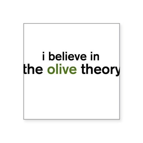 Olive Theory Square Sticker