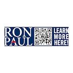 Ron Paul 2012 QR Code 42x14 Wall Peel