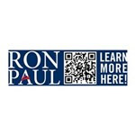 Ron Paul 2012 QR Code 42x14 Wall Peel