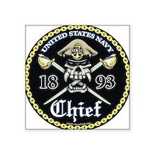 Navy Chief 1893 Square Sticker