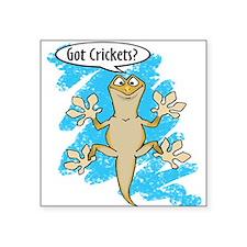 Funny Carton Gecko Square Sticker