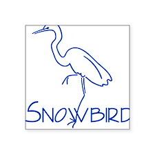 Simple Snowbird Square Sticker