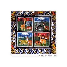 Four Animals (Wanyama Wanne) Square Sticker