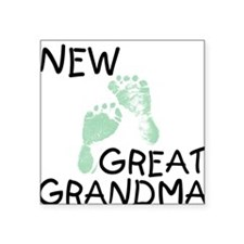 New Great Grandma (green) Square Sticker