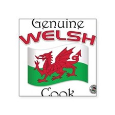Genuine Welsh Cook Square Sticker
