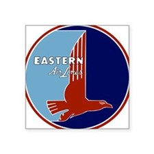 Vintage Eastern Air Lines Square Stickeree