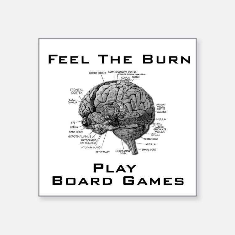 Feel The Burn Square Sticker