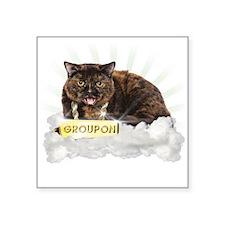 Groupon Cat Square Sticker