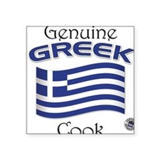 Genuine Greek Cook Square Sticker