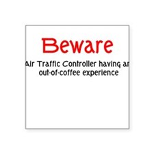 Air Traffice Controller Square Sticker